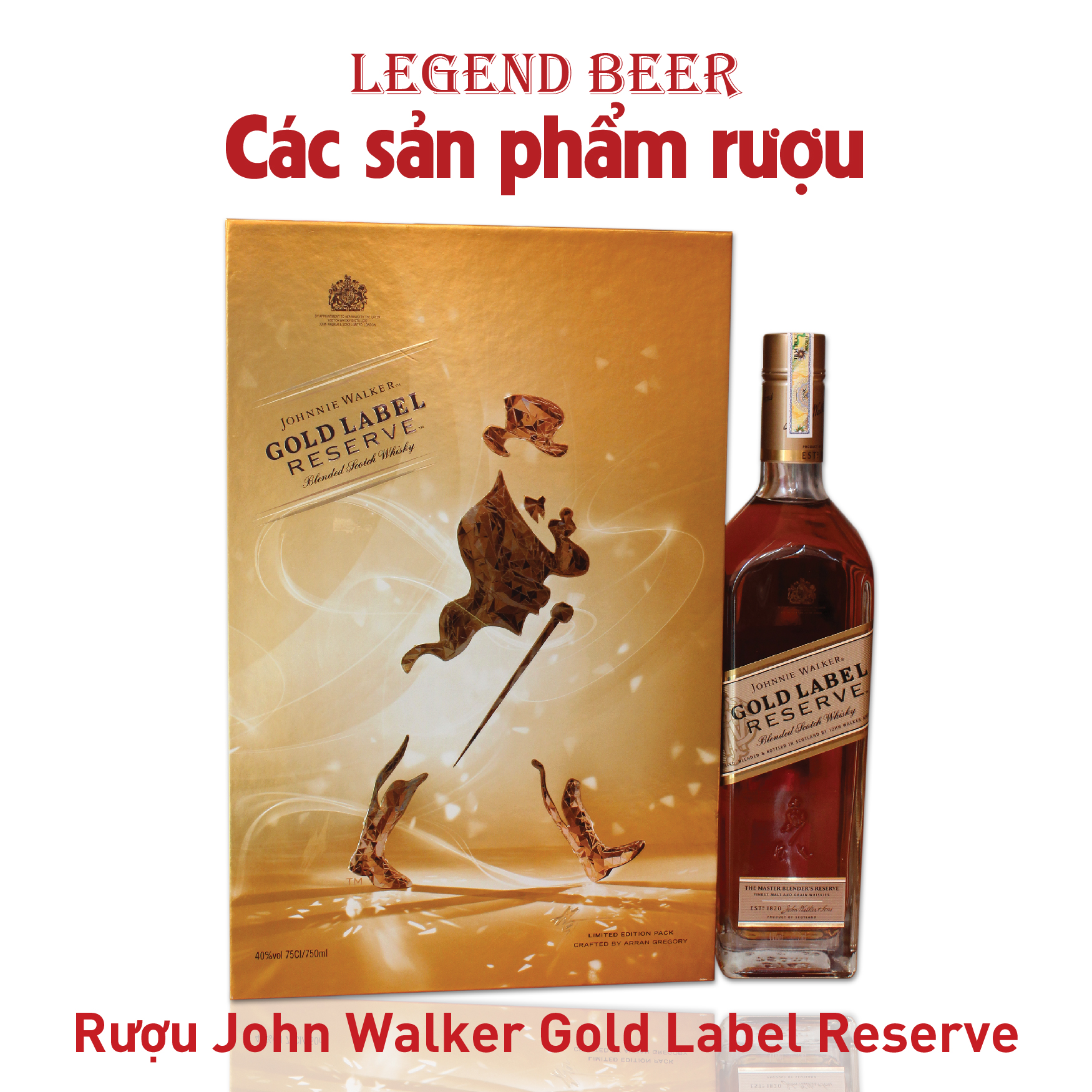 Rượu John Walker Gold Label Reserve