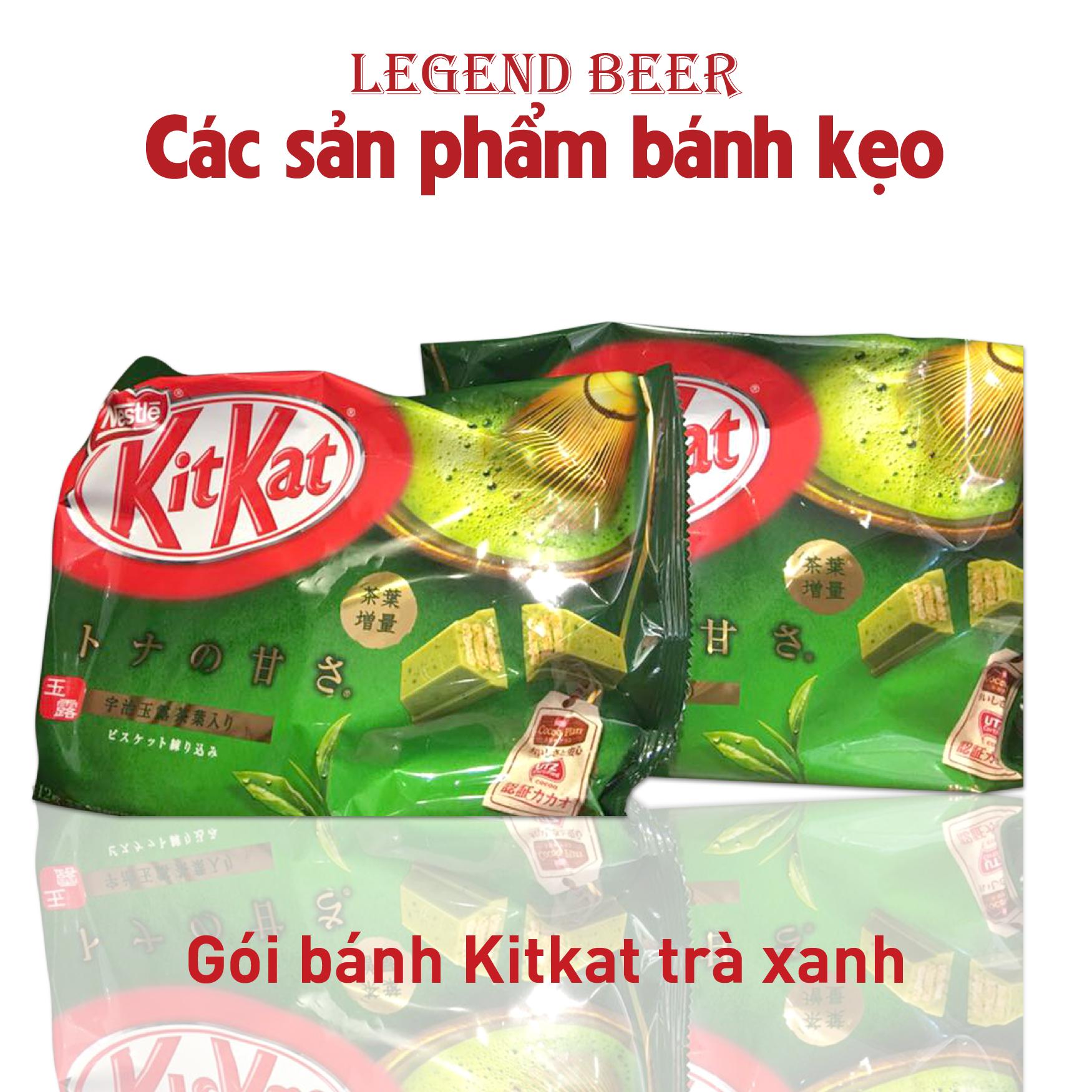 Gói bánh Kitkat trà xanh